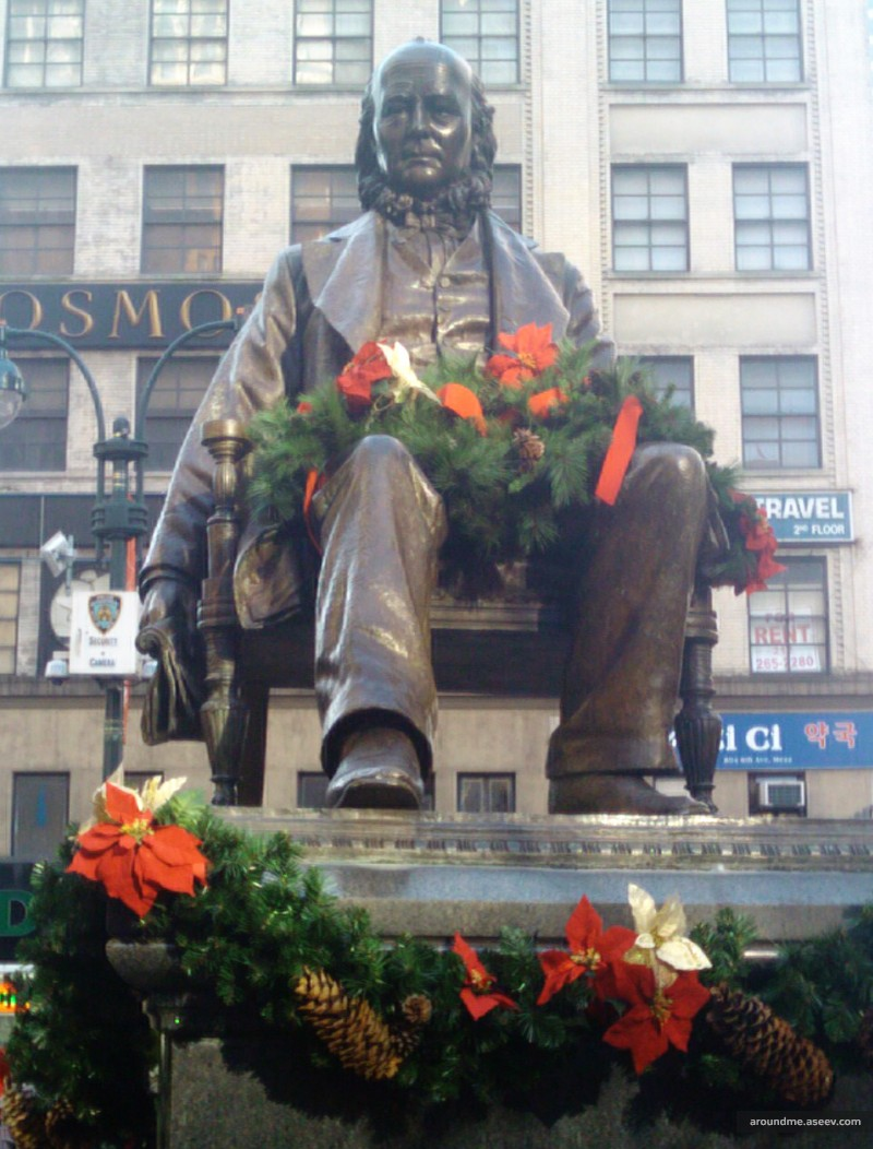 Horace Greeley is Ready for Christmas