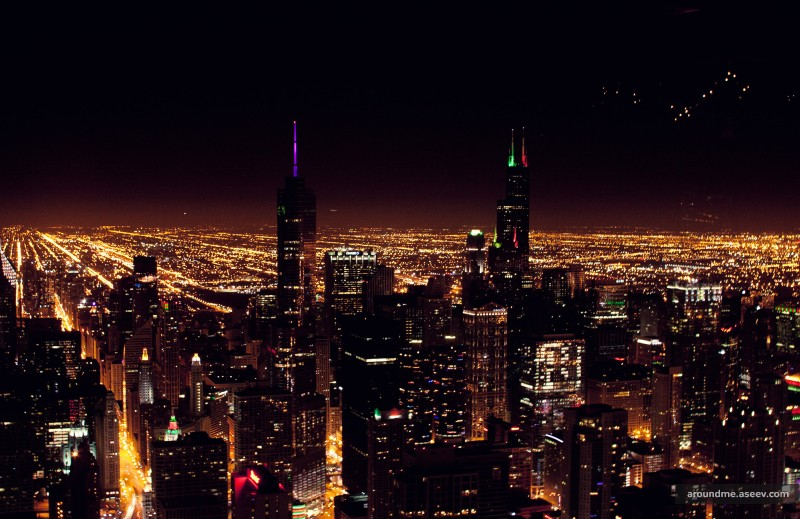 96 Floors Above Night Chicago