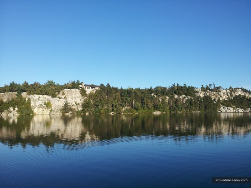 Lake Minnewaska. The end of the Path