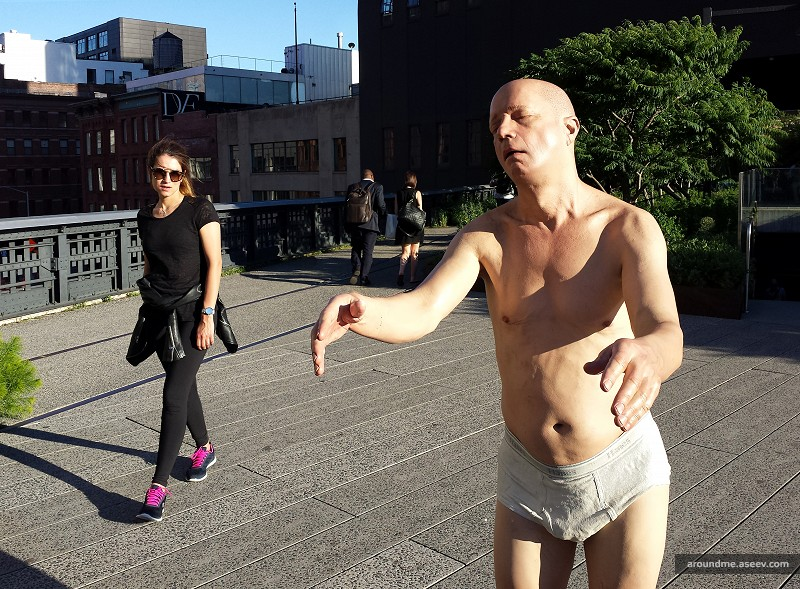 Sleepwalker at the High Line Park