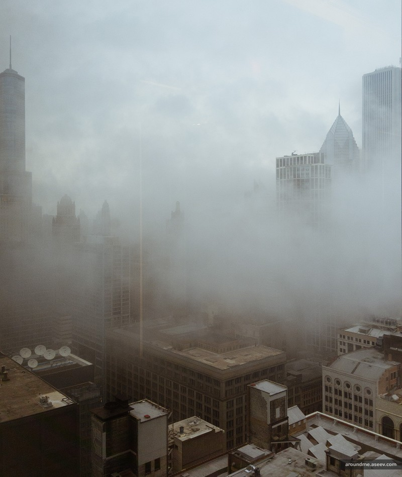 Low Clouds Over Gloomy Chicago