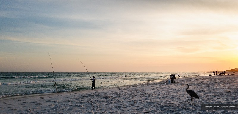Fishing on Santa Rosa Island, Florida